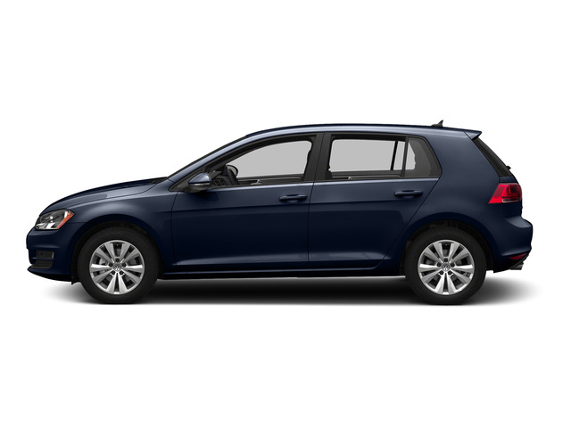 Night Blue Metallic 2015 Volkswagen Golf Pictures Golf Hatchback 4D TDI SE I4 Turbo photos side view