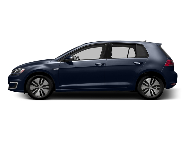 Night Blue Metallic 2015 Volkswagen e-Golf Pictures e-Golf Hatchback 4D e-Golf Electric photos side view
