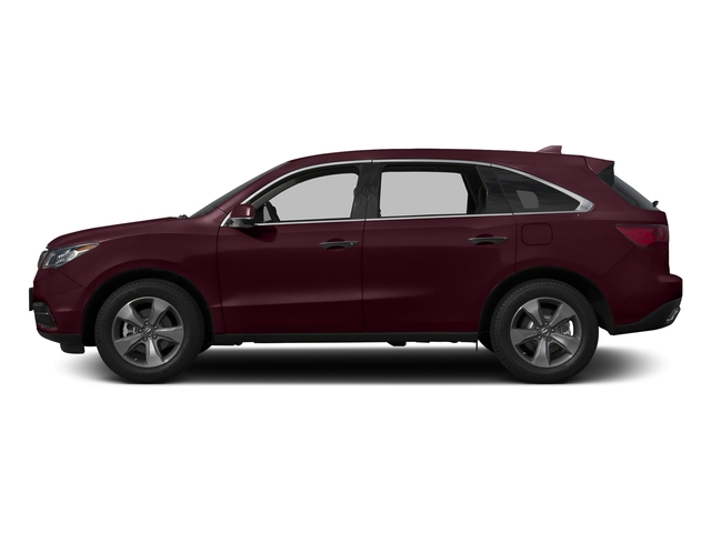 Dark Cherry Pearl 2016 Acura MDX Pictures MDX Utility 4D AWD V6 photos side view