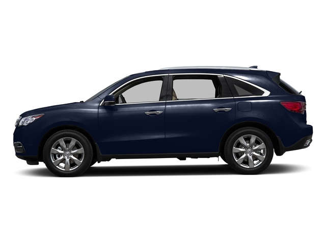 Fathom Blue Pearl 2016 Acura MDX Pictures MDX Utility 4D Advance AWD V6 photos side view