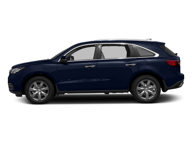 Fathom Blue Pearl 2016 Acura MDX Pictures MDX Utility 4D Advance DVD 2WD V6 photos side view