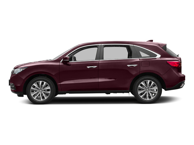 Dark Cherry Pearl 2016 Acura MDX Pictures MDX Utility 4D Technology DVD AWD V6 photos side view