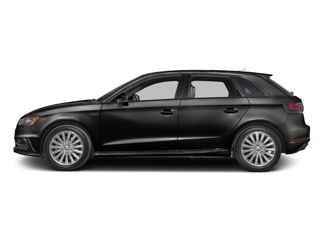 Brilliant Black 2016 Audi A3 e-tron Pictures A3 e-tron Hatchback 5D E-tron Prestige photos side view