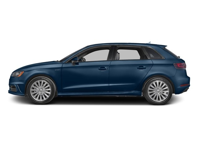 Scuba Blue Metallic 2016 Audi A3 e-tron Pictures A3 e-tron Hatchback 5D E-tron Prestige photos side view