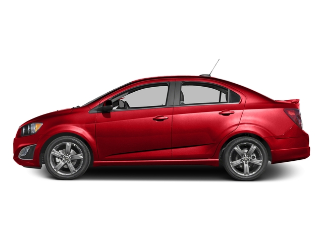 Red Hot 2016 Chevrolet Sonic Pictures Sonic Sedan 4D RS I4 photos side view