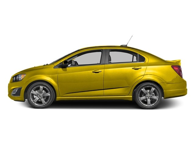 Bright Yellow 2016 Chevrolet Sonic Pictures Sonic Sedan 4D RS I4 photos side view