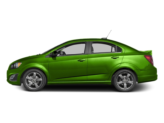 Dragon Green Metallic 2016 Chevrolet Sonic Pictures Sonic Sedan 4D RS I4 photos side view