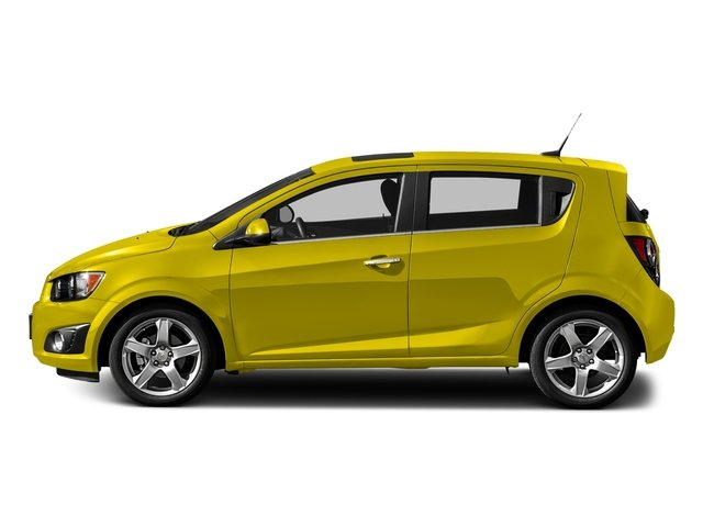 Bright Yellow 2016 Chevrolet Sonic Pictures Sonic Hatchback 5D LT I4 photos side view