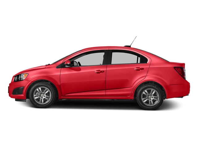 Red Hot 2016 Chevrolet Sonic Pictures Sonic Sedan 4D LS I4 photos side view