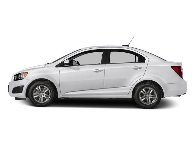 Summit White 2016 Chevrolet Sonic Pictures Sonic Sedan 4D LS I4 photos side view