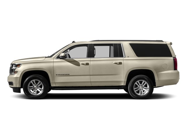 Champagne Silver Metallic 2016 Chevrolet Suburban Pictures Suburban Utility 4D LT 4WD V8 photos side view