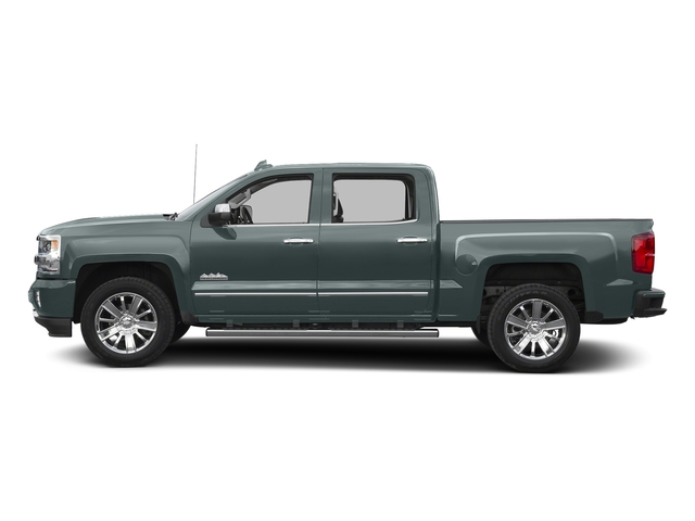 Slate Grey Metallic 2016 Chevrolet Silverado 1500 Pictures Silverado 1500 Crew Cab High Country 2WD photos side view