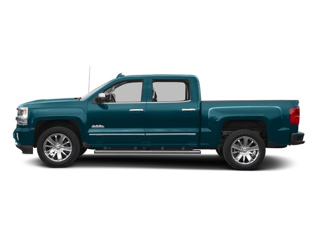 Deep Ocean Blue Metallic 2016 Chevrolet Silverado 1500 Pictures Silverado 1500 Crew Cab High Country 2WD photos side view
