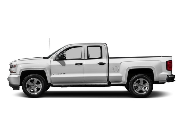 Summit White 2016 Chevrolet Silverado 1500 Pictures Silverado 1500 Extended Cab Custom 2WD photos side view