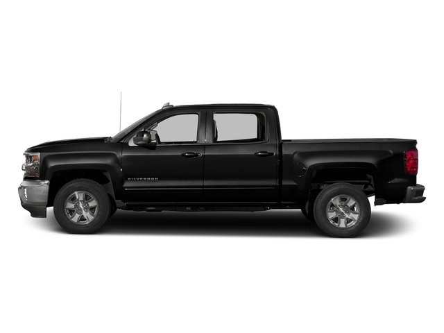 Black 2016 Chevrolet Silverado 1500 Pictures Silverado 1500 Crew Cab Custom 2WD photos side view