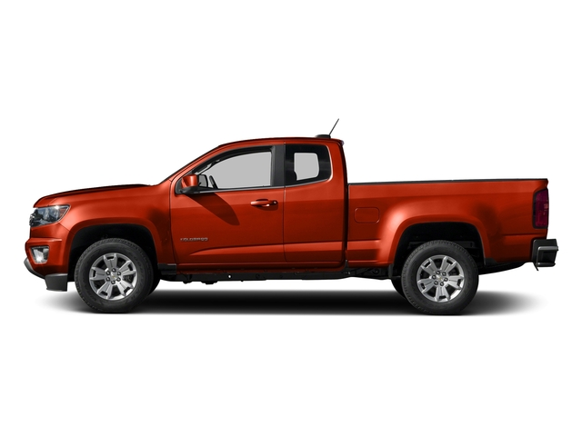 Inferno Orange Metallic 2016 Chevrolet Colorado Pictures Colorado Extended Cab LT 4WD photos side view