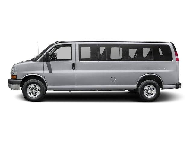 Silver Ice Metallic 2016 Chevrolet Express Passenger Pictures Express Passenger Extended Express Van LS 155 photos side view