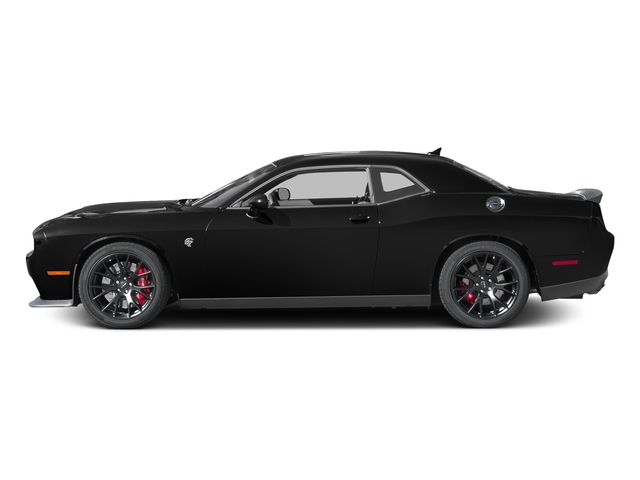Pitch Black Clearcoat 2016 Dodge Challenger Pictures Challenger Coupe 2D SRT Hellcat V8 Supercharged photos side view