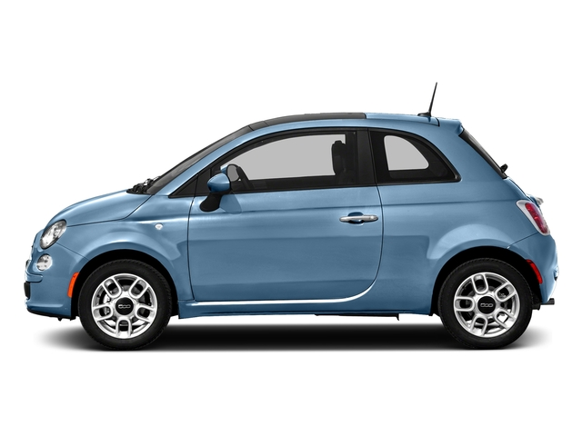 Celeste Blu (Retro Light Blue) 2016 FIAT 500 Pictures 500 Hatchback 3D Lounge I4 photos side view