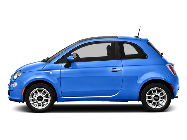 Laser Blu (Bright Met. Blue) 2016 FIAT 500 Pictures 500 Hatchback 3D Lounge I4 photos side view