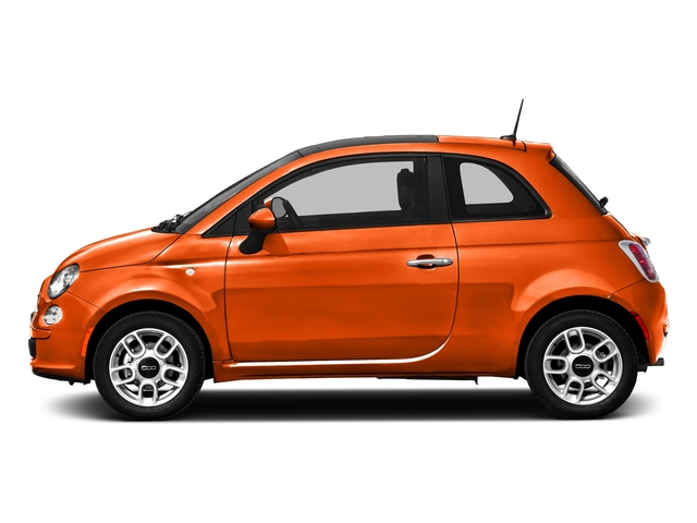 Spitfire Orange 2016 FIAT 500 Pictures 500 Hatchback 3D Lounge I4 photos side view