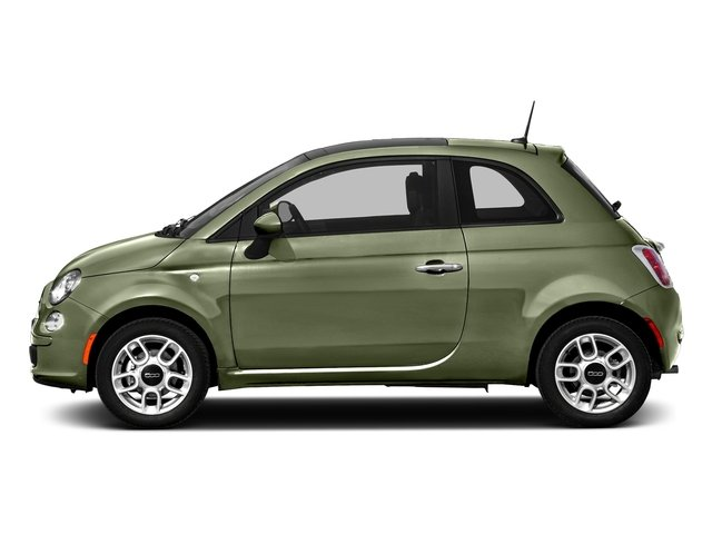Verde Oliva (Olive Green) 2016 FIAT 500 Pictures 500 Hatchback 3D Lounge I4 photos side view