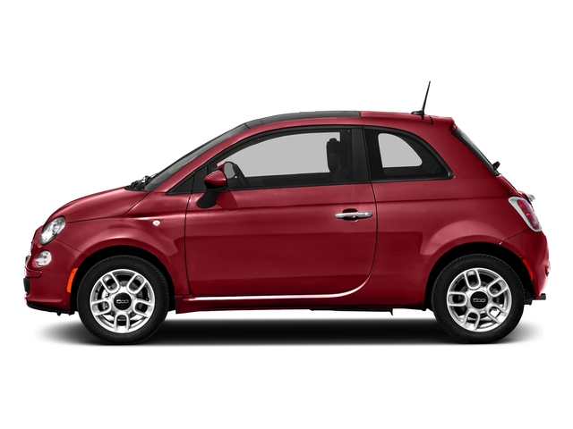 Rosso (Red) 2016 FIAT 500 Pictures 500 Hatchback 3D Lounge I4 photos side view