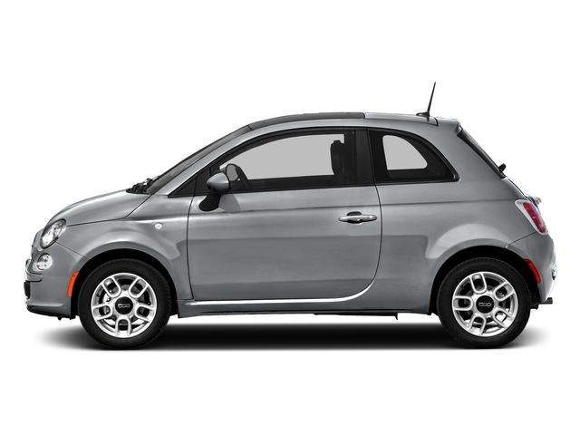 Billet Argento (Silver) 2016 FIAT 500 Pictures 500 Hatchback 3D Lounge I4 photos side view