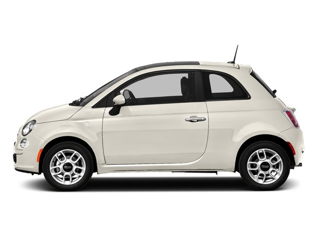 Bianco (White) 2016 FIAT 500 Pictures 500 Hatchback 3D Lounge I4 photos side view