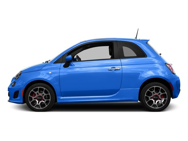 Laser Blu (Bright Met. Blue) 2016 FIAT 500 Pictures 500 Hatchback 3D I4 Turbo photos side view