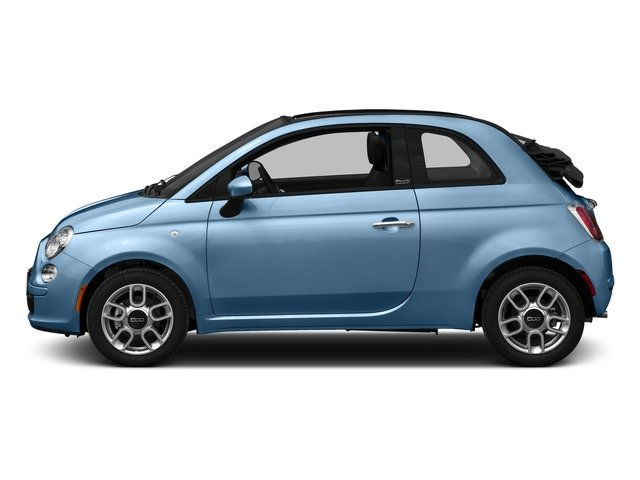 Celeste Blu (Retro Light Blue) 2016 FIAT 500c Pictures 500c Convertible 2D Lounge I4 photos side view
