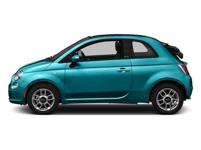 Laser Blu (Bright Met. Blue) 2016 FIAT 500c Pictures 500c Convertible 2D Lounge I4 photos side view