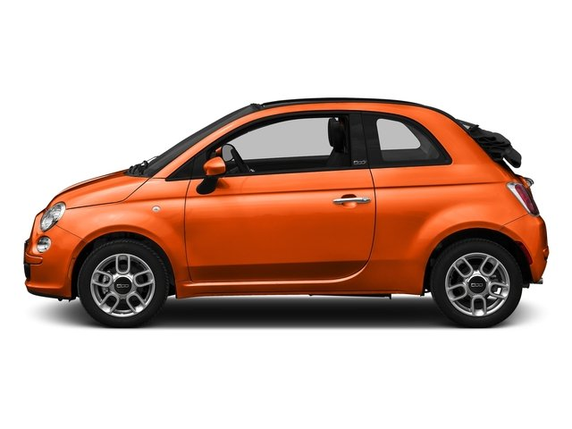 Spitfire Orange 2016 FIAT 500c Pictures 500c Convertible 2D Easy I4 photos side view