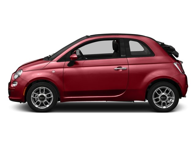 Rosso (Red) 2016 FIAT 500c Pictures 500c Convertible 2D Pop I4 photos side view