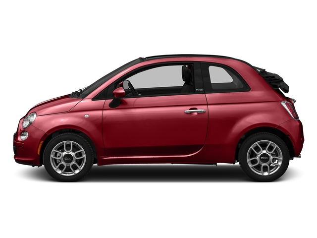 Rosso (Red) 2016 FIAT 500c Pictures 500c Convertible 2D Lounge I4 photos side view