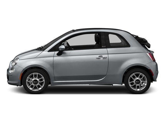 Billet Argento (Silver) 2016 FIAT 500c Pictures 500c Convertible 2D Lounge I4 photos side view