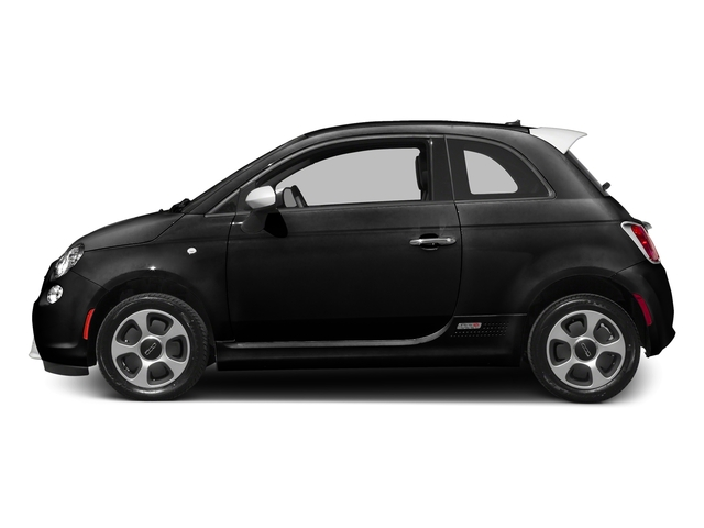Nero Puro (Straight Black) 2016 FIAT 500e Pictures 500e Hatchback 3D 500e Electric photos side view
