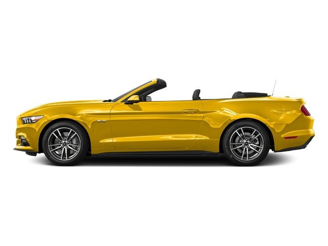 Triple Yellow Tri-Coat 2016 Ford Mustang Pictures Mustang Convertible 2D GT Premium V8 photos side view