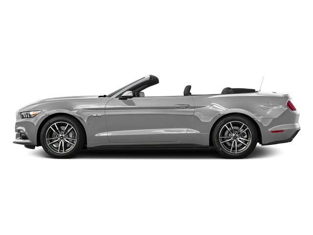 Ingot Silver Metallic 2016 Ford Mustang Pictures Mustang Convertible 2D GT Premium V8 photos side view