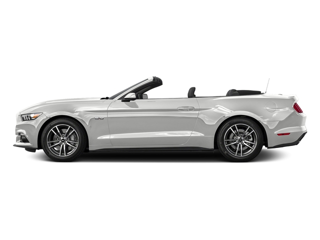 Oxford White 2016 Ford Mustang Pictures Mustang Convertible 2D GT Premium V8 photos side view