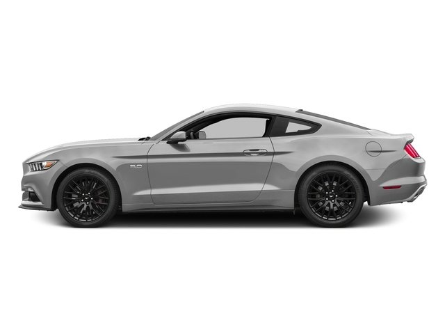 Ingot Silver Metallic 2016 Ford Mustang Pictures Mustang Coupe 2D GT V8 photos side view