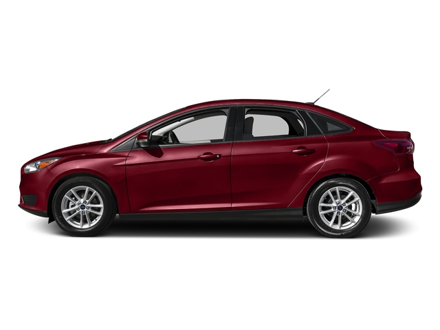 Ruby Red Metallic Tinted Clearcoat 2016 Ford Focus Pictures Focus Sedan 4D SE EcoBoost I3 Turbo photos side view