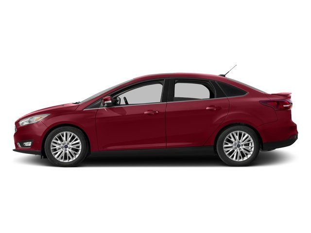 Ruby Red Metallic Tinted Clearcoat 2016 Ford Focus Pictures Focus Sedan 4D Titanium I4 photos side view