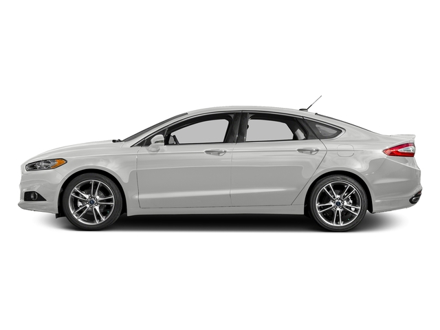Oxford White 2016 Ford Fusion Pictures Fusion Sedan 4D Titanium AWD I4 Turbo photos side view