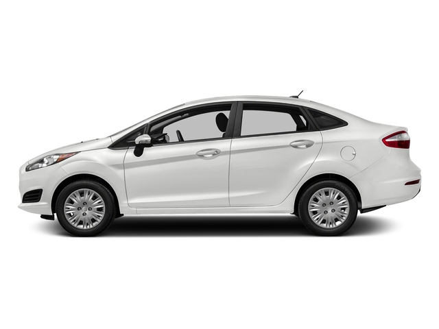 White Platinum Metallic Tri-Coat 2016 Ford Fiesta Pictures Fiesta Sedan 4D SE I4 photos side view