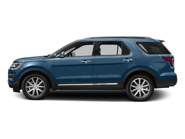 Blue Jeans Metallic 2016 Ford Explorer Pictures Explorer Utility 4D Limited 2WD V6 photos side view