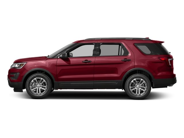 Ruby Red Metallic Tinted Clearcoat 2016 Ford Explorer Pictures Explorer Utility 4D EcoBoost 2WD I4 photos side view
