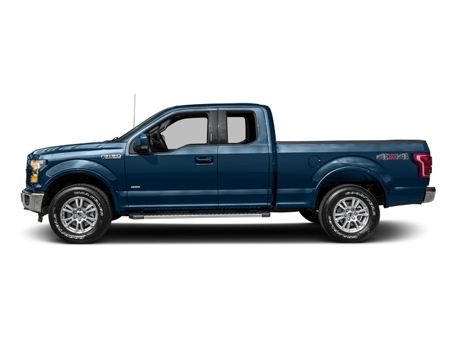Blue Jeans Metallic 2016 Ford F-150 Pictures F-150 Supercab Lariat 2WD photos side view