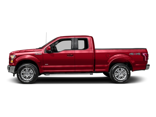 Race Red 2016 Ford F-150 Pictures F-150 Supercab Lariat 2WD photos side view