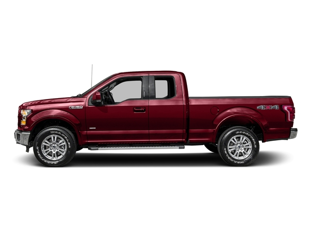 Ruby Red Metallic Tinted Clearcoat 2016 Ford F-150 Pictures F-150 Supercab Lariat 2WD photos side view